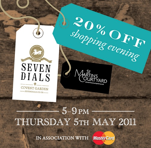 Grab your diary: Seven Dials 20% off shopping evening
