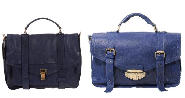 Steep vs Cheap: Blue Leather Satchel