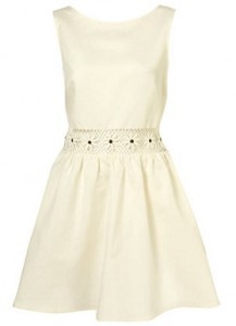 Topshop Cream Dress