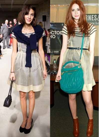 Who wore it best? Alexa Chung vs Karen Gillan in Orla Kiely