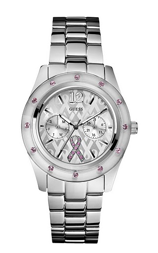 Guess launches brand new Breast Cancer Awareness watch