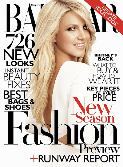 Britney's back and beautiful on the cover of US Bazaar