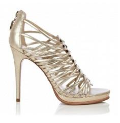 DVF gold sandals