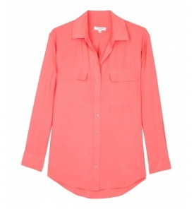 Love or Hate: Equipment coral signature silk blouse