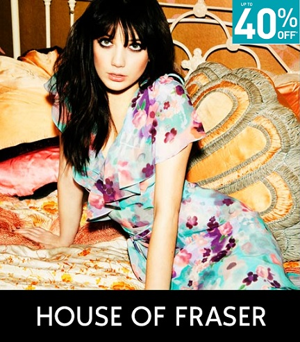 Up to 40% off at House of Fraser!