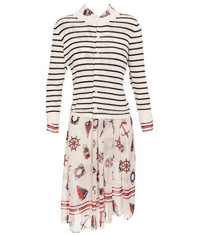 Love or Hate: Junya Watanabe nautical dress with cardigan