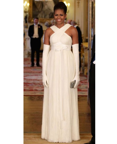 Michelle Obama wears Tom Ford to Buckingham Palace