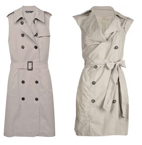 Steep vs Cheap: sleeveless trench dress