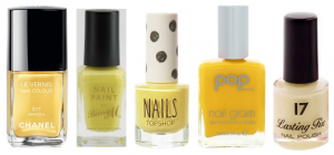 Yellow Nailvarnishes