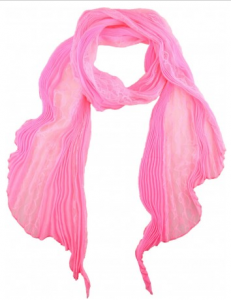 Nina Ricci pleated scarf