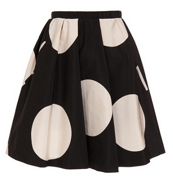 Love or Hate: Acne romantic dot silk skirt