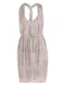 Acne snakeskin dress