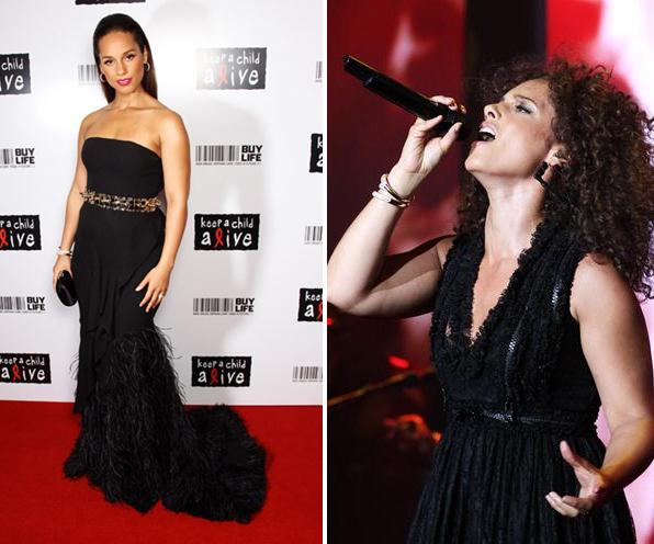 Alicia Keys in Givenchy – twice!