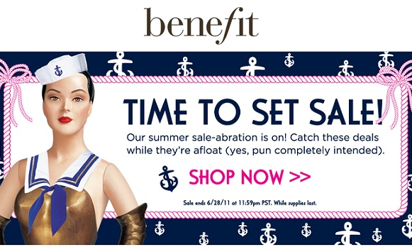 Benefit's summer sale is now on!