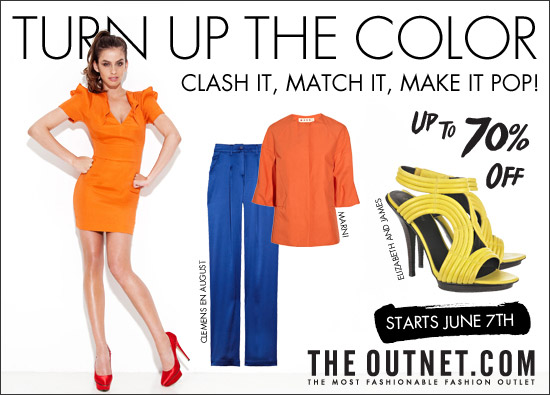 Up to 70% off hot colour blocking pieces!