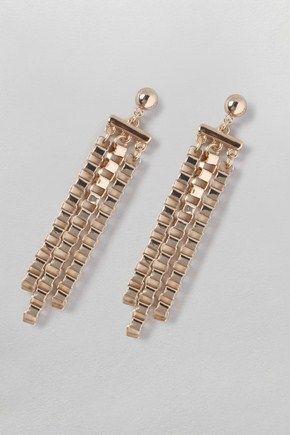 Deal of the day: French Connection box chain drop earrings