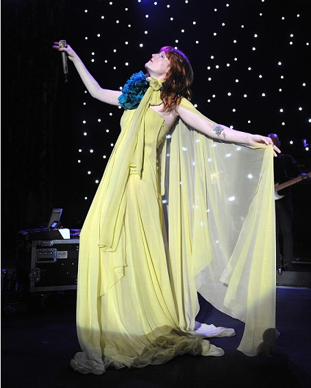 Florence Welch rocks the crowd in her first Gucci tour gown