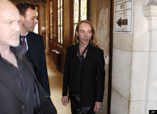 Live blog: John Galliano has arrived in court, will defend anti-Semitic remarks with triple addiction