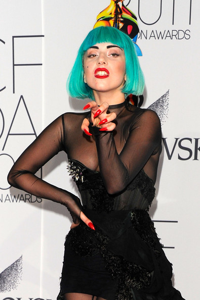 Lady Gaga wears vintage Mulger at CFDAs (and a spiked thong)