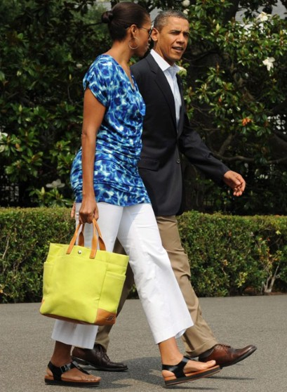 Michelle Obama wears $30 Gap dress