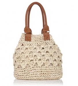 Oasis straw tote