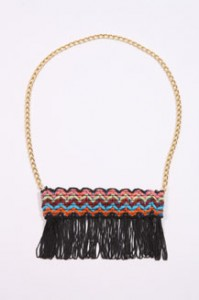 Renewal fringed necklace