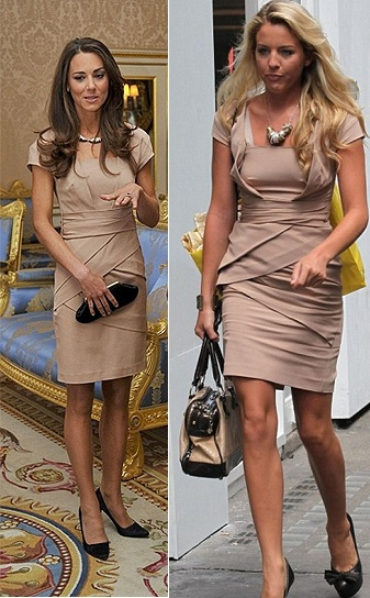 Who wore it best? Kate Middleton or TOWIE's Lydia Bright in Reiss's Shola dress