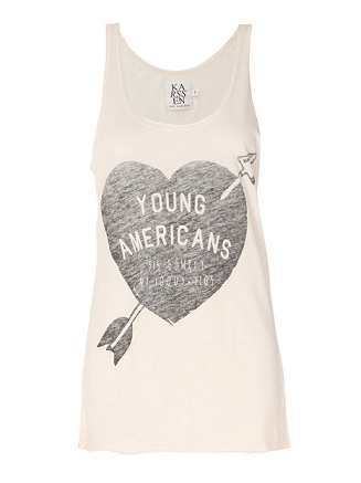 Love or Hate: Zoe Karssen Young Americans slogan tank top