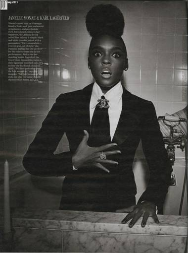 Karl Lagerfeld liked Janelle Monae the second he met her
