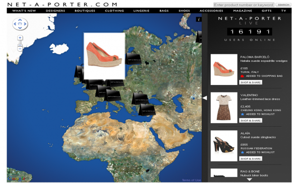 Net-a-Porter Live allows you to see what the world is purchasing