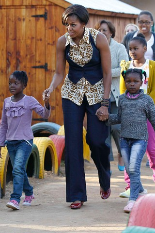 Michelle Obama wears ASOS Africa