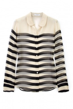 Love or Hate: Equipment Sophie transparent stripe blouse