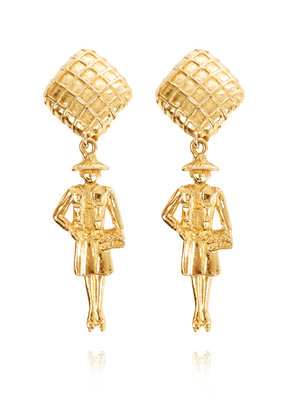 Accessory Adventures: Susan Caplan Vintage Chanel figurine earrings