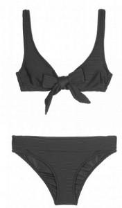 Heidi Klein Black Nassau Bow Bikini
