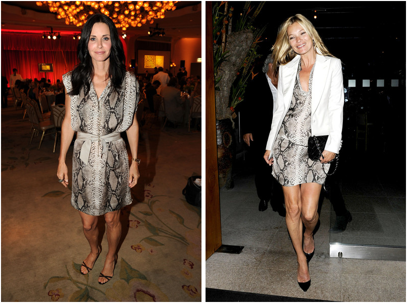 Who wore it best? Kate Moss vs Courtney Cox in luxurious Lanvin