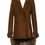 RTW Wanderer: Lanvin Mohair-silk coat with fox fur trim