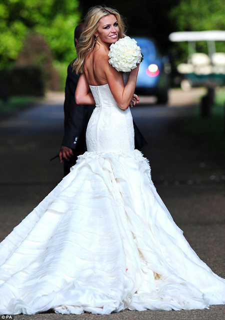 Giles Deacon on designing Abbey Clancy's wedding dress