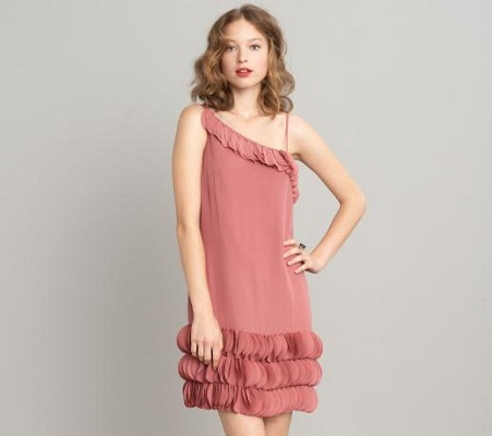 RTW Wanderer: Silk scallop bubble dress