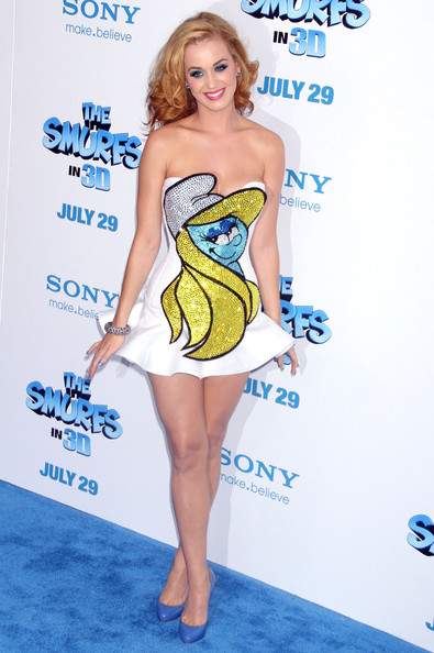 Katy Perry Smurfs it up in New York