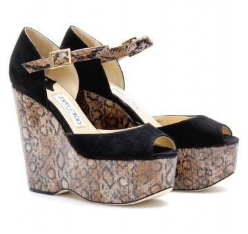 Chic Shoegasms: Jimmy Choo Folly snakeskin wedges