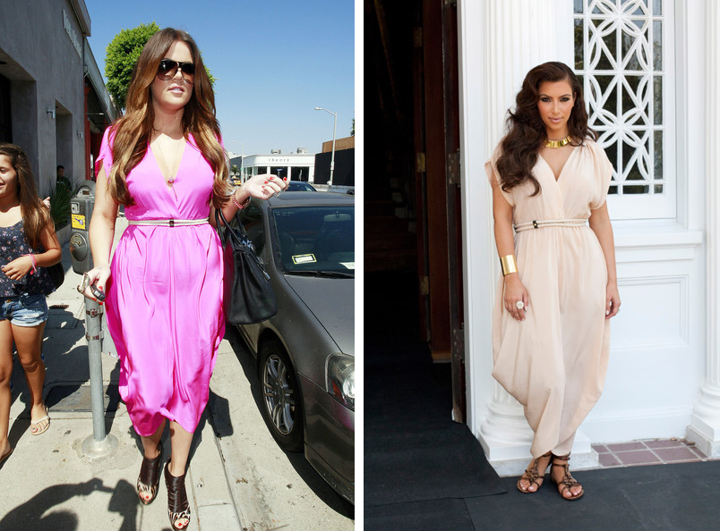 Who wore it best? Kim vs Khloe Kardashian in Myne