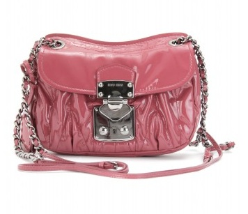Handbag Hunter: Miu Miu patent leather Matelasse shoulder bag