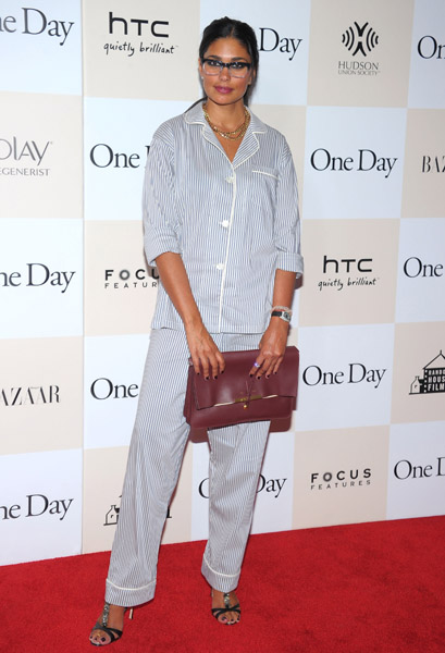 Rachel Roy opts for pyjamas on the red carpet