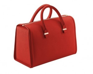 Victoria Tote in Vermillion Buffalo