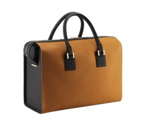 Victoria Tote in Pumpkin and Black Buffalo