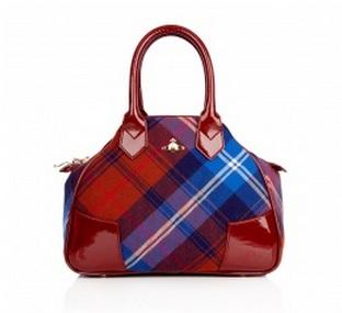 Handbag Hunter: Vivienne Westwood small Yasmin tartan Tote