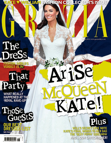 Naughty Grazia admit to digitally slimming painfully slender Kate Middleton
