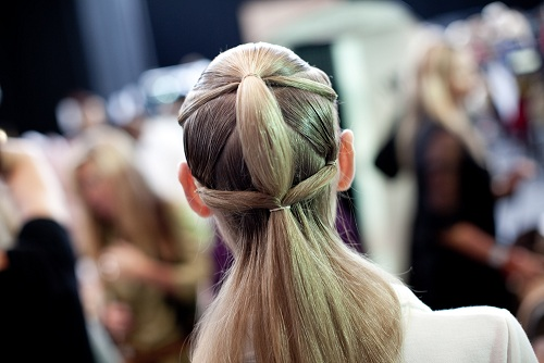 Get the LFW look: David Koma's tribal ponytail