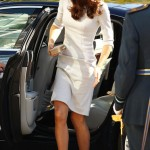 Kate Middleton wears Amanda Wakeley to Royal Marsden Hospital