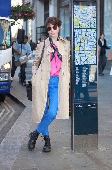 Streetstyle: Colour block